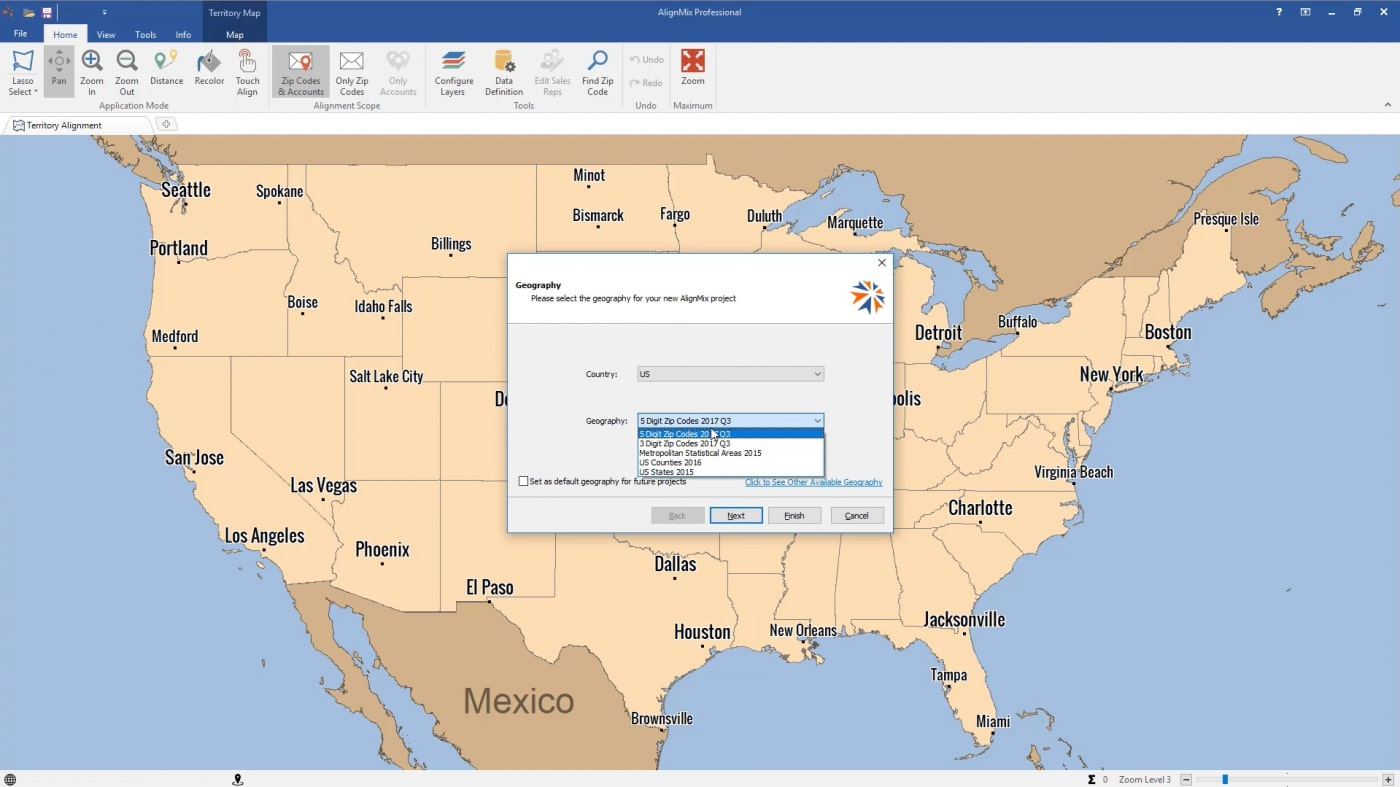 Creating County Based Sales Territory Alignments   AlignMix
