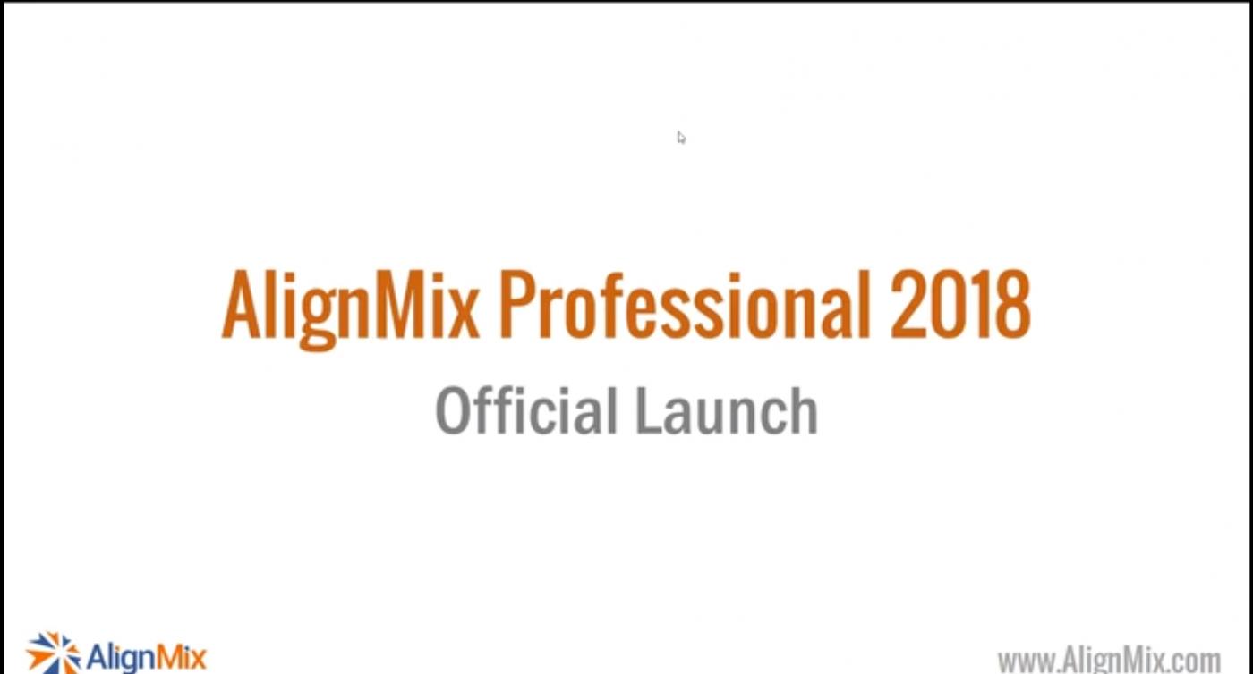 2018 AlignMix Launch Webinar