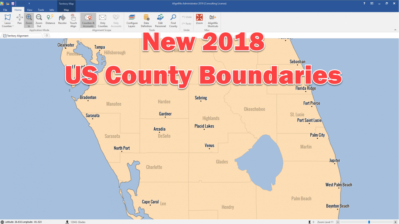 New 2018 US County Boundaries