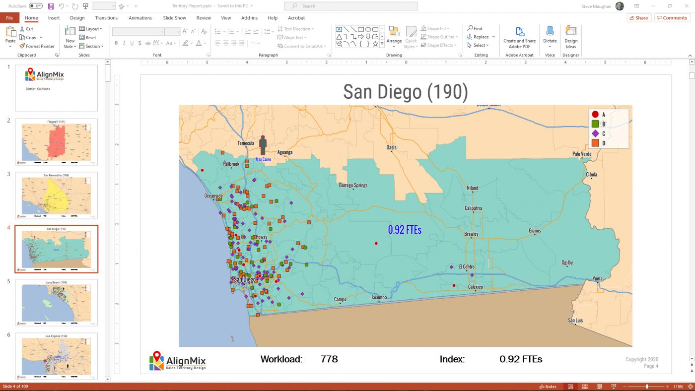Export to PowerPoint Screenshot | AlignMix